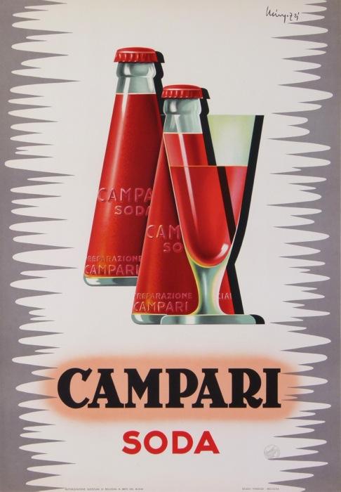 Campari Soda Mingozzi giovanni original vintage poster letitia morris gallery