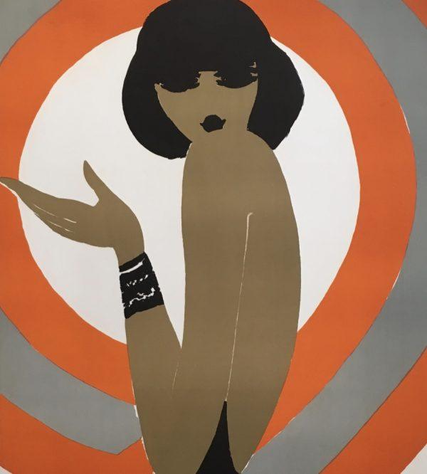 Villemot Spirale Orange 1970 Original Vintage Poster