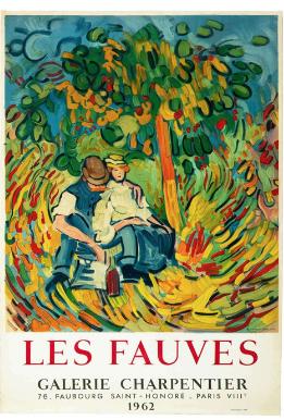 Les Fauves Galerie Charpentier 1962 Original Vintage Poster