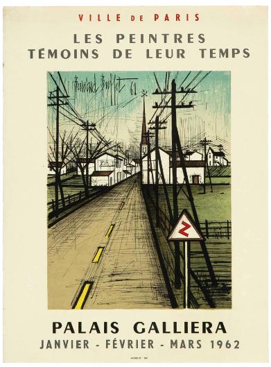 Original Vintage Poster Palais Galiera by Bernard Buffet 1962