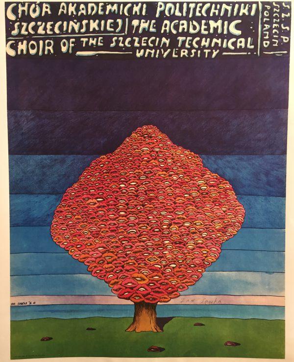 Szezecin Technical University Poland Original Vintage Poster