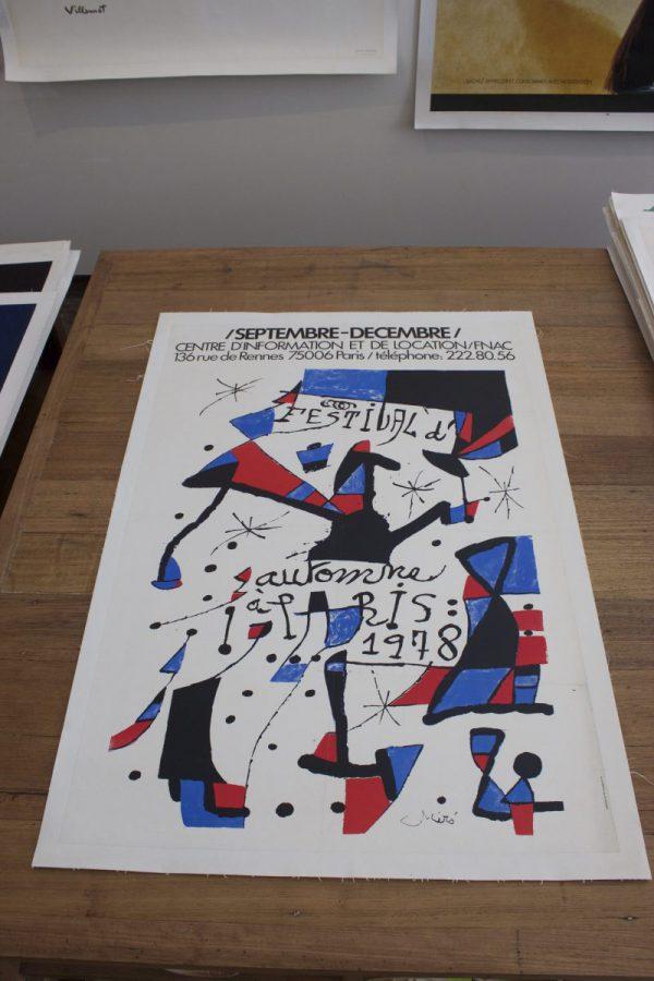 Miro 1978 Festival original vintage poster