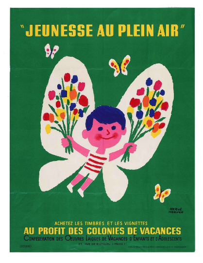 Jeunesse au plein air by Herve Morvan Original Vintage Poster