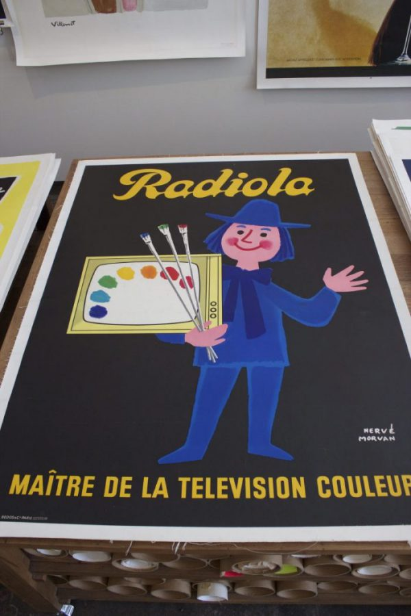 original vintage poster Radiola Maitre De La Television Couleur