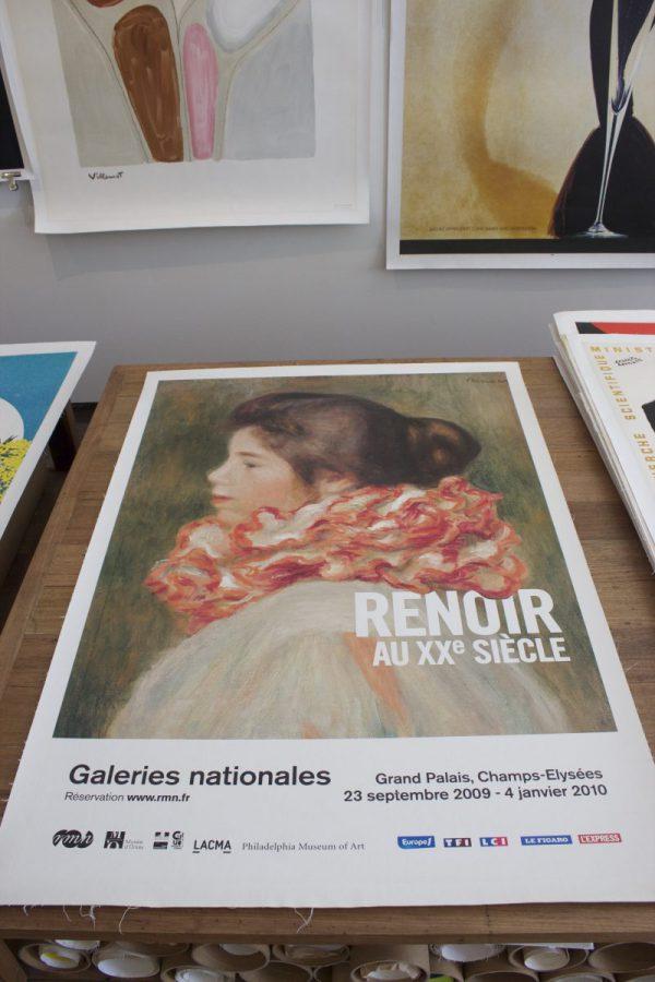 Renoir Galeries Nationales original vintage poster