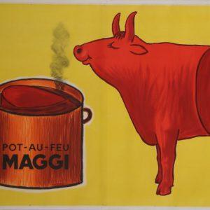 savignac maggi pot au feu 1959 original vintage poster