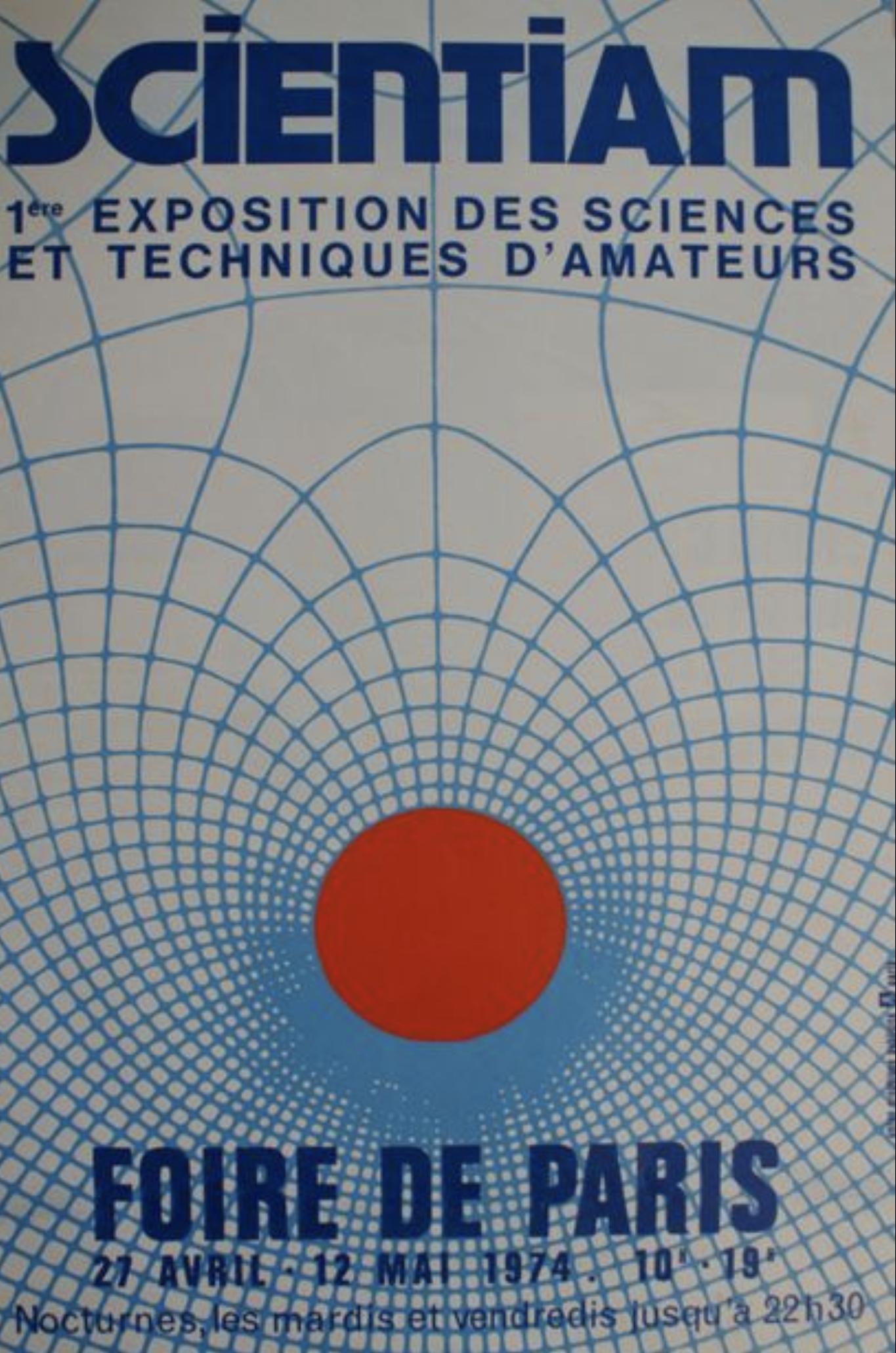 SCIENTIAM Foire de Paris 1974 Original Vintage Poster
