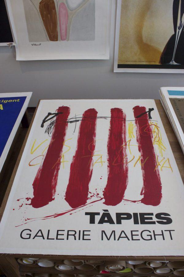 Tapies Antoni Tapies Visca Catalunya original vintage poster