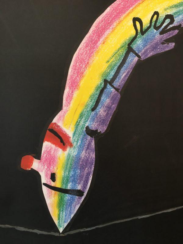 Savignac Rainbow Exhibition Munich Original Vintage Poster