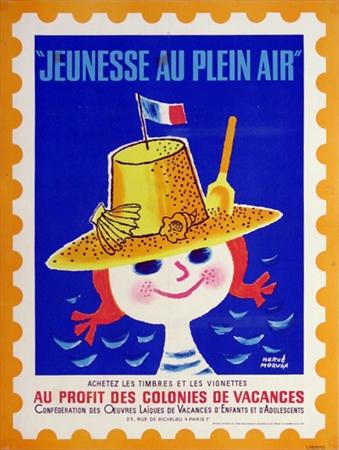 Jeunesse Au Plein Air Beach Original Vintage Poster