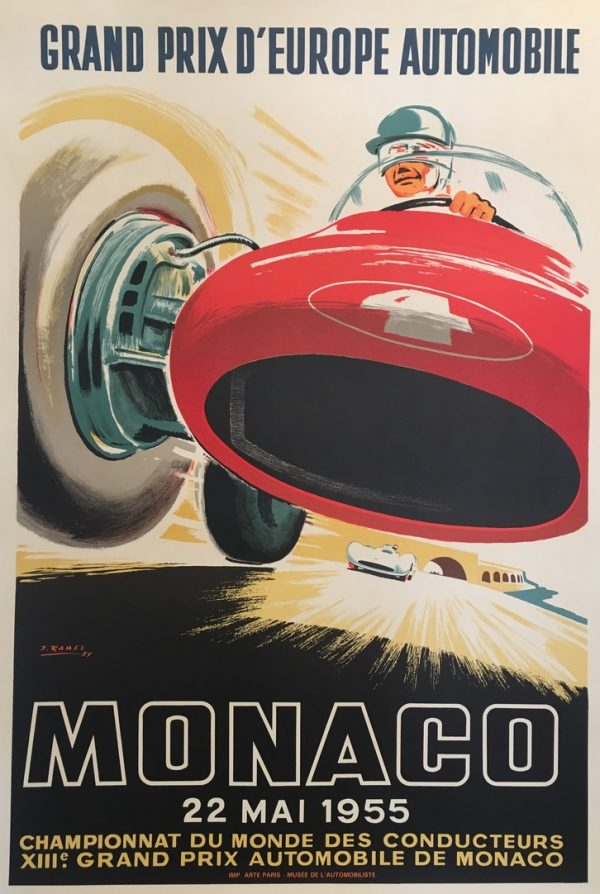 Monaco Grand Prix 1955 by Falcucci