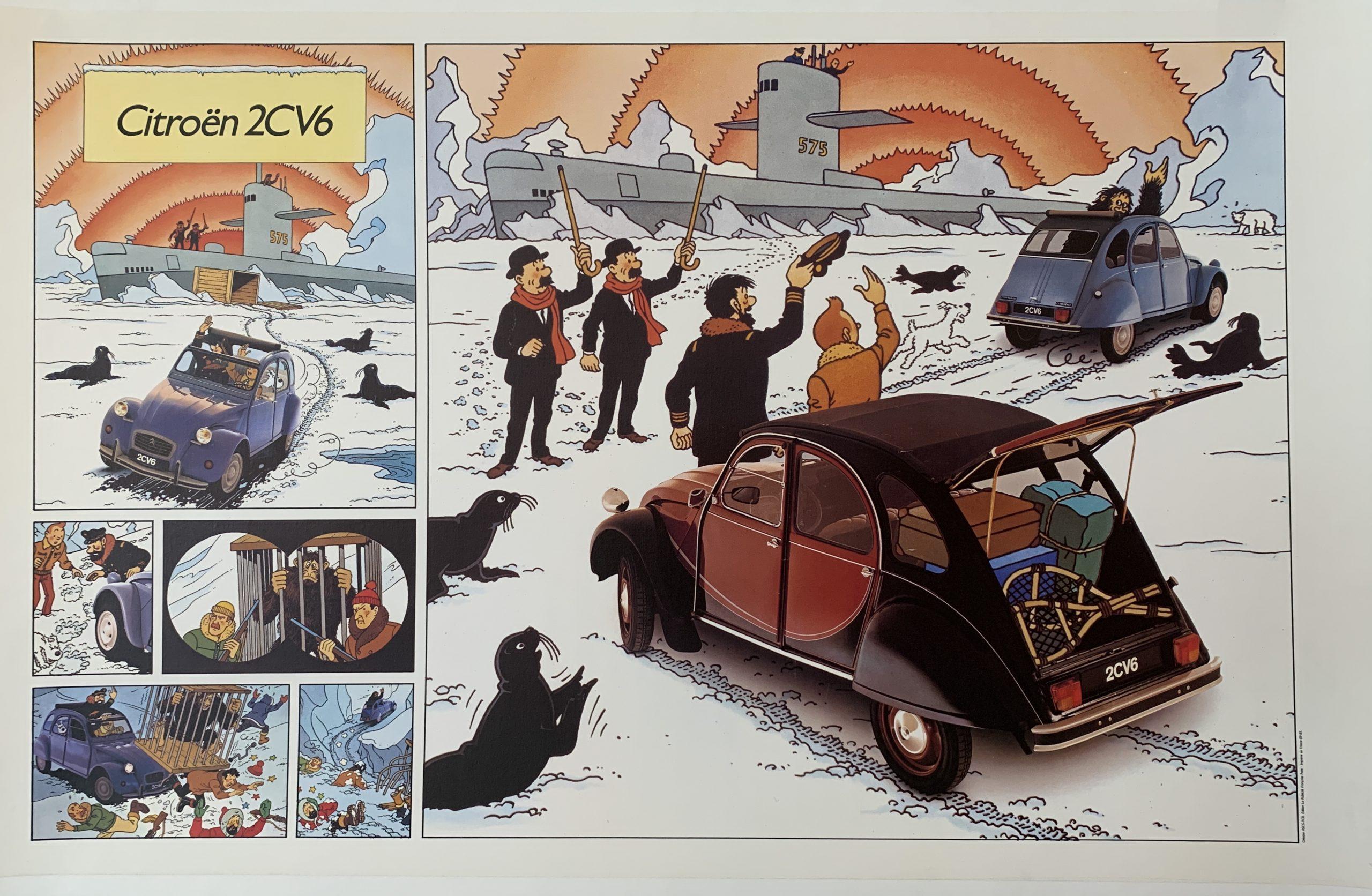 tin tin vintage poster