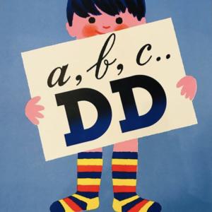 a, b, c... DD by Herve Morvan Original Vintage Poster