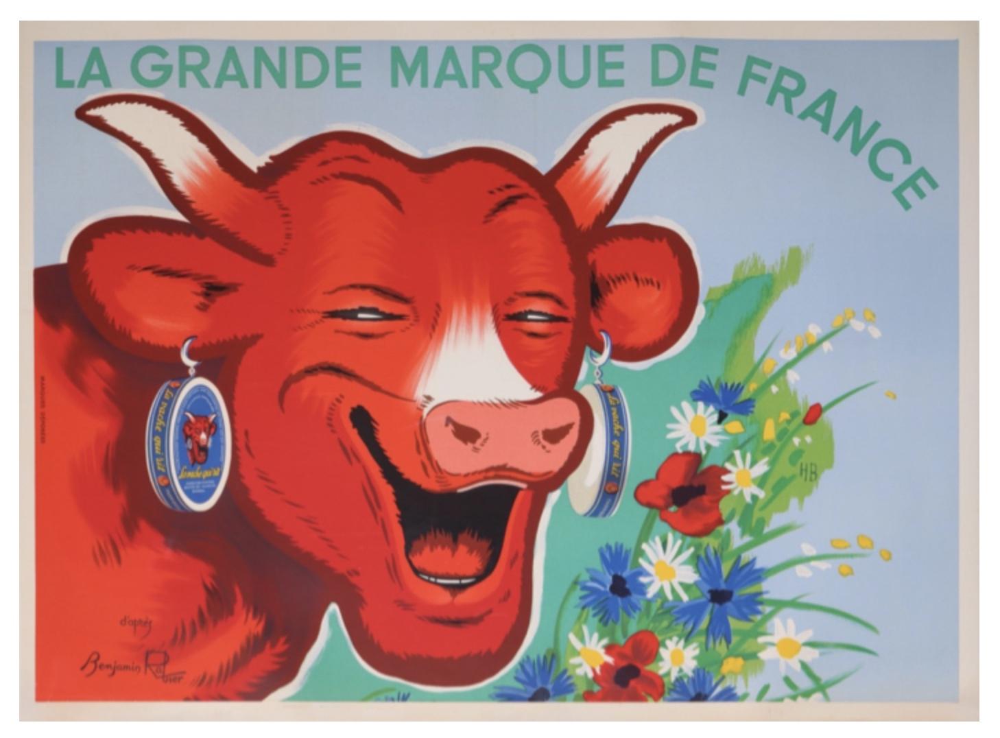 La Vache Qui Rit La Grande Marque Francaise Original Vintage Poster