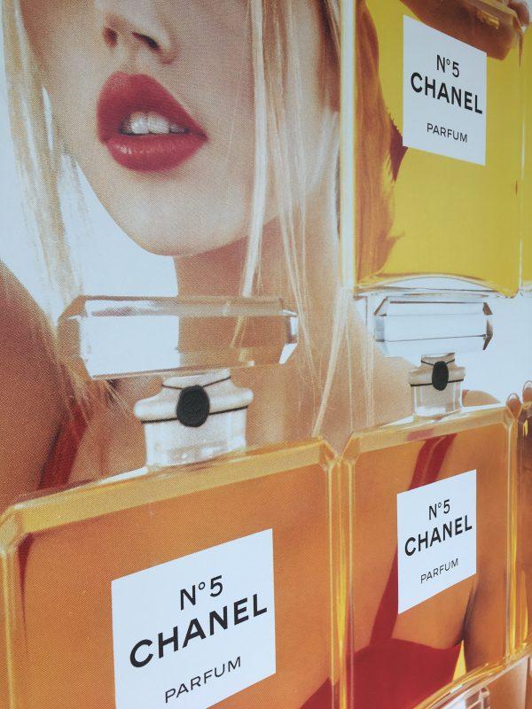 1999 Original Chanel No. 5 Poster Perfume Bottles Original Vintage Poster