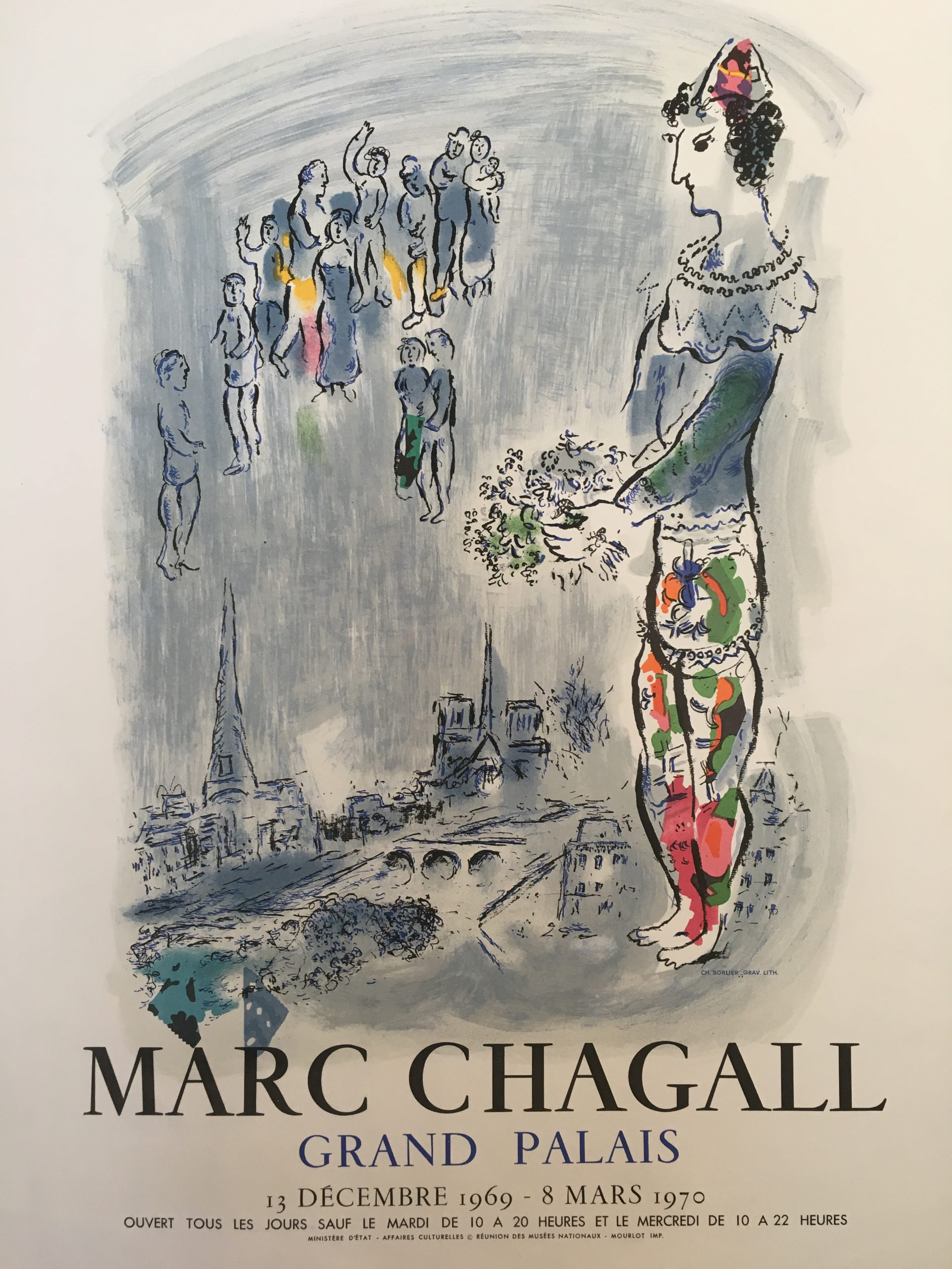 Marc Chagall Grand Palais 1970 Original Vintage Poster