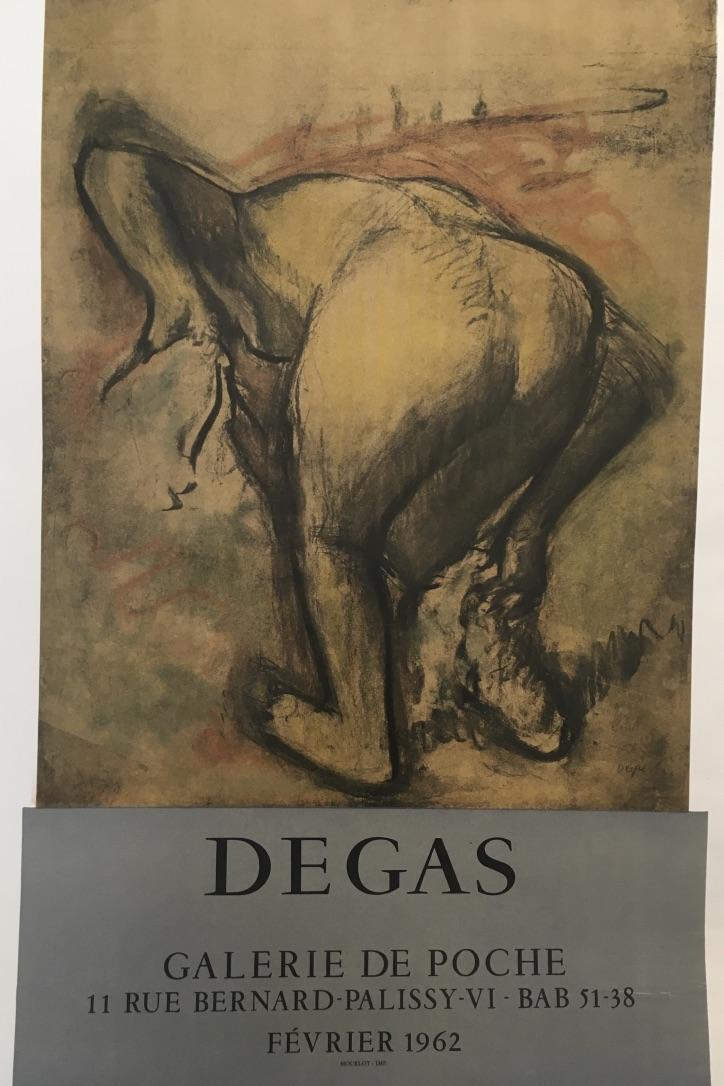 Degas Galerie De Poche Original Vintage Poster