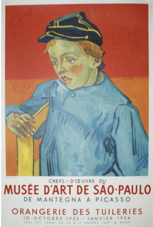 Musee D'art de Sao Paulo Picasso Original Vintage Poster