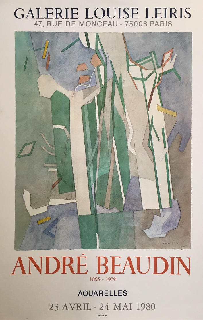 Andre Beaudin Galerie Louise Original Vintage Poster