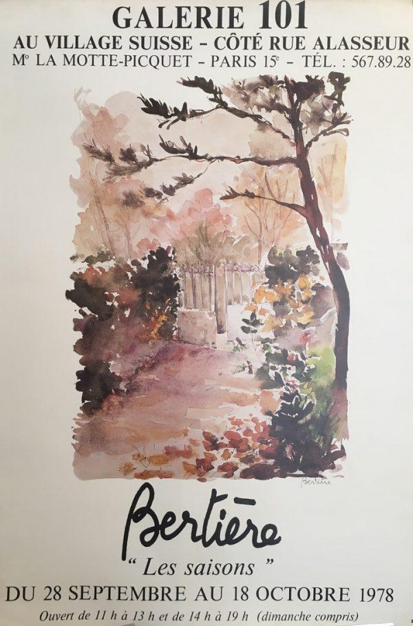 """Bertiere """"Les Saisons"""" Galerie 101 Original Vintage Poster"""