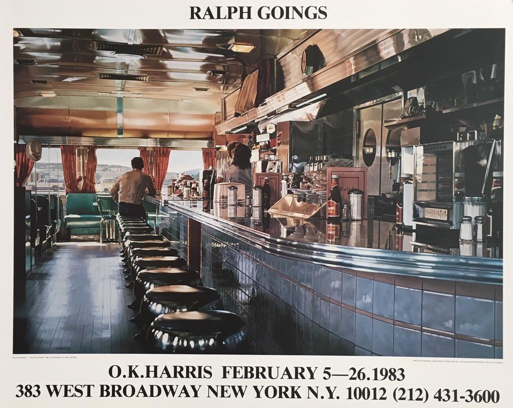 Ralph Goings American Diner Original Vintage Poster