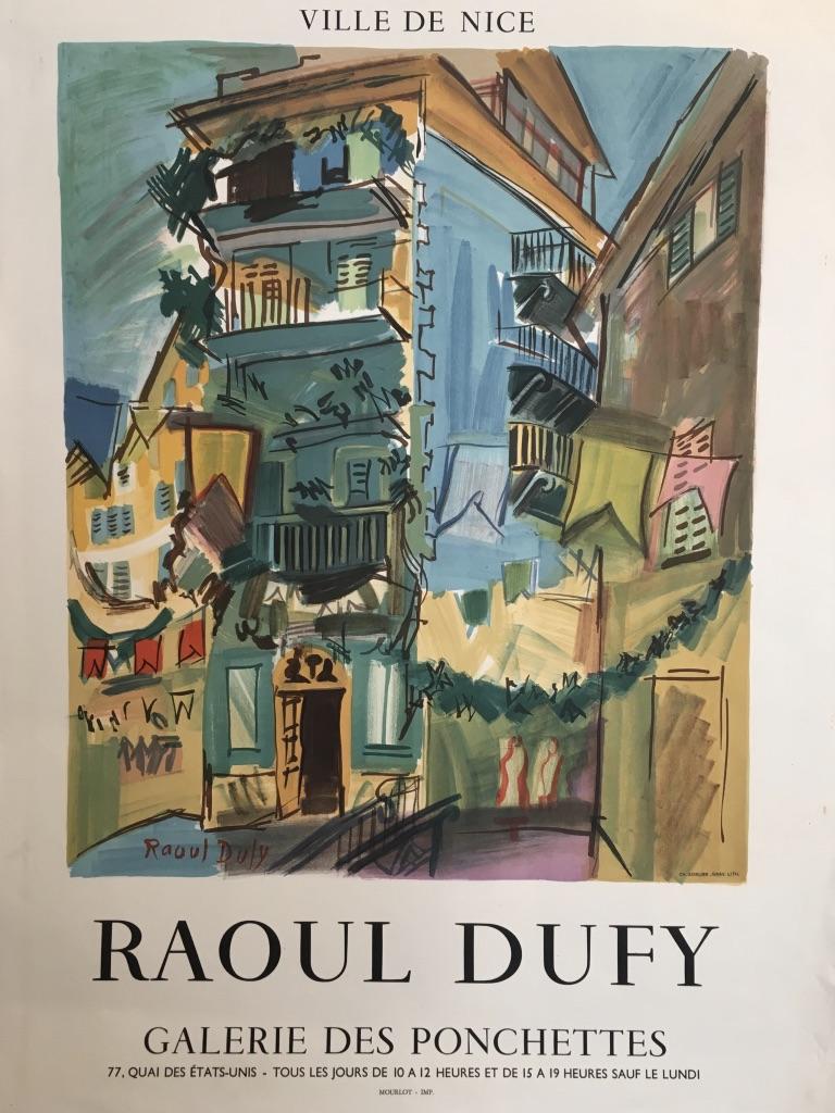 Raoul Duffy Ville de Nice Galerie des Ponchettes Original Vintage Poster
