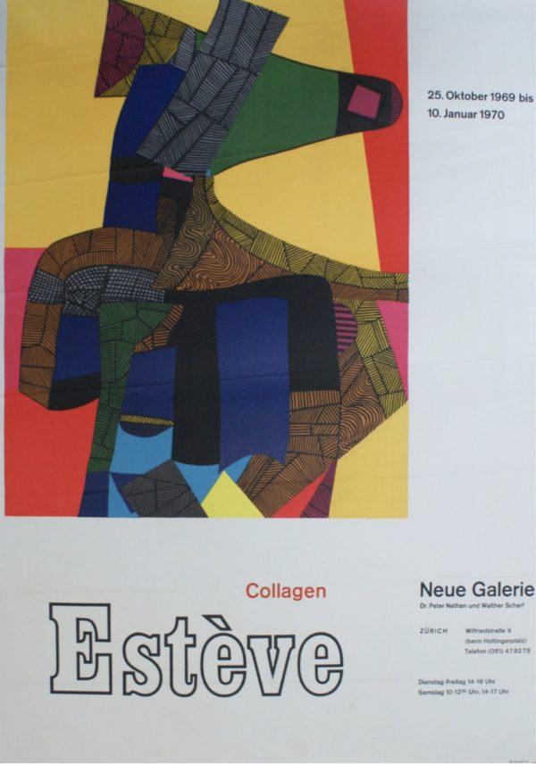 Esteve Neue Galerie 1970 Original Vintage Poster