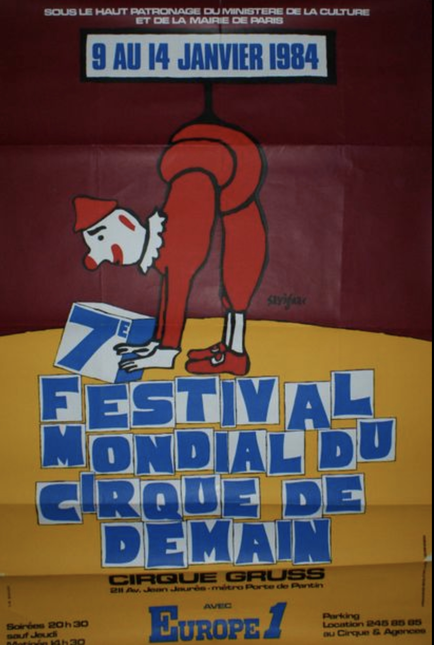 Savignac Festival Mondial du Cirque de Demain Original Vintage Poster