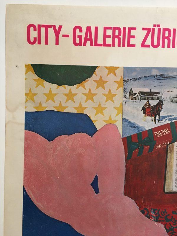 Pop Art City-Galerie Zurich Original Vintage Poster