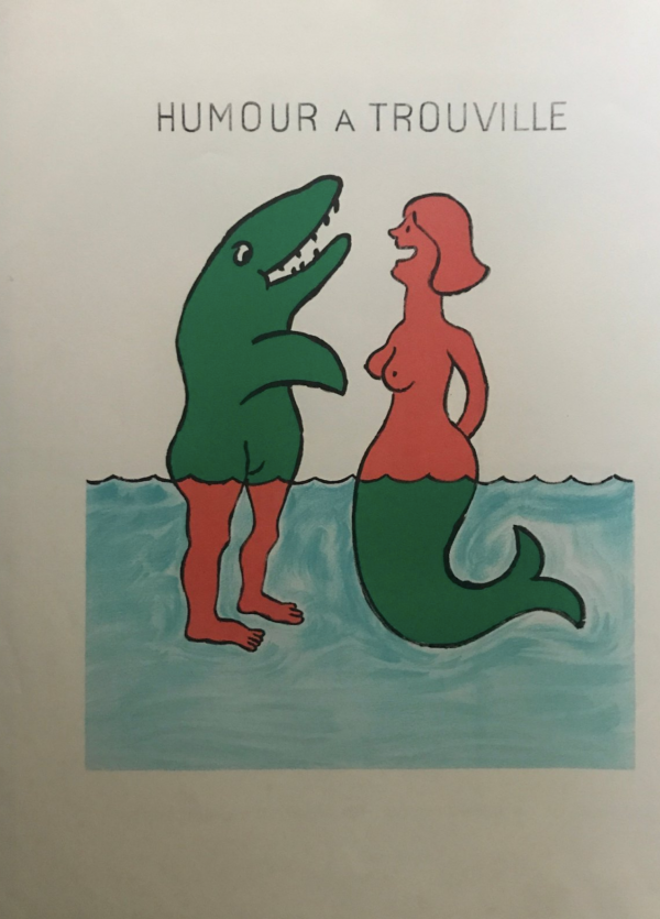 Savignac Humour A Trouville Original Vintage Poster