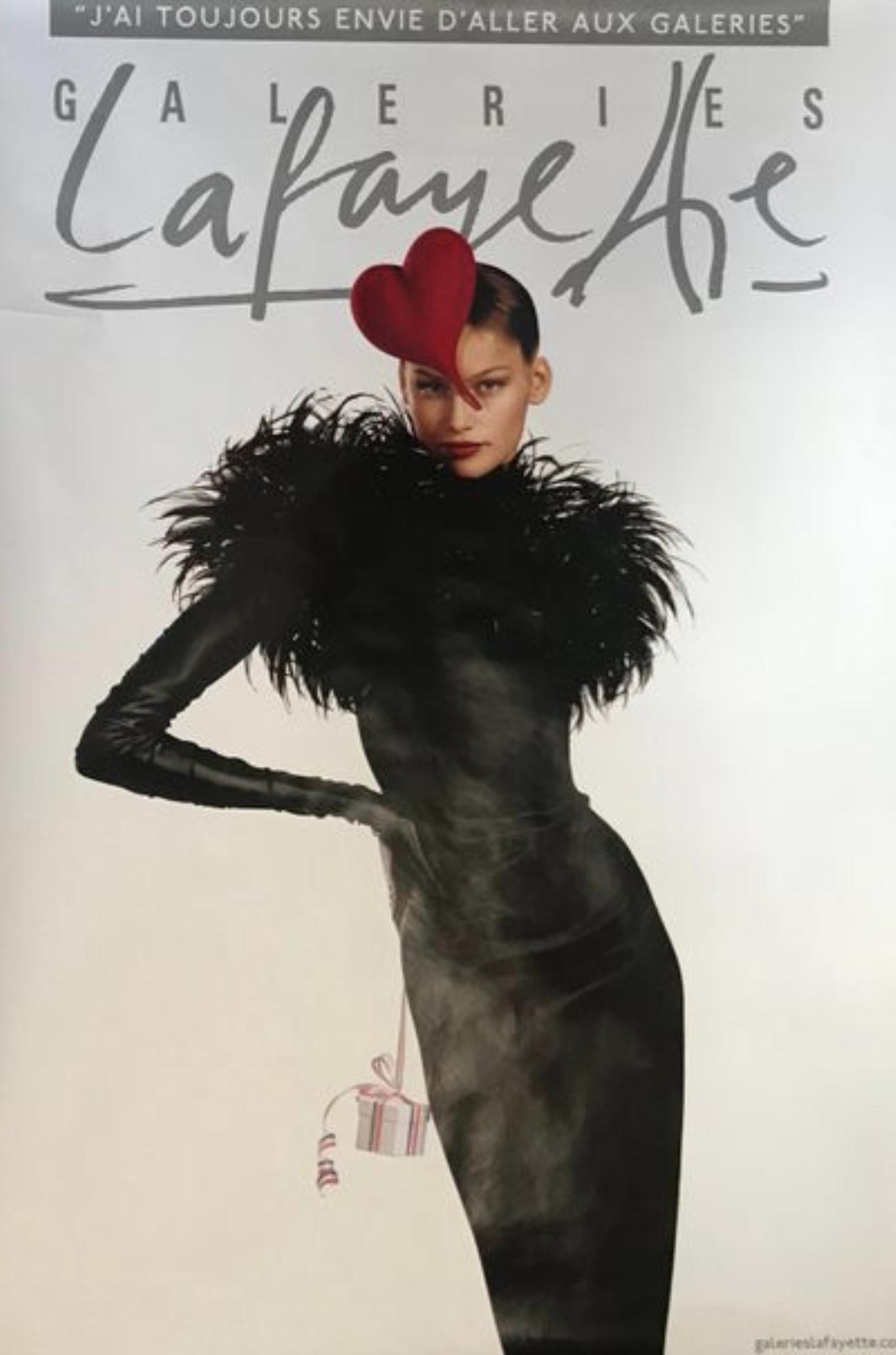 Galeries Lafayette by Jean Paul Goude Original Vintage Poster