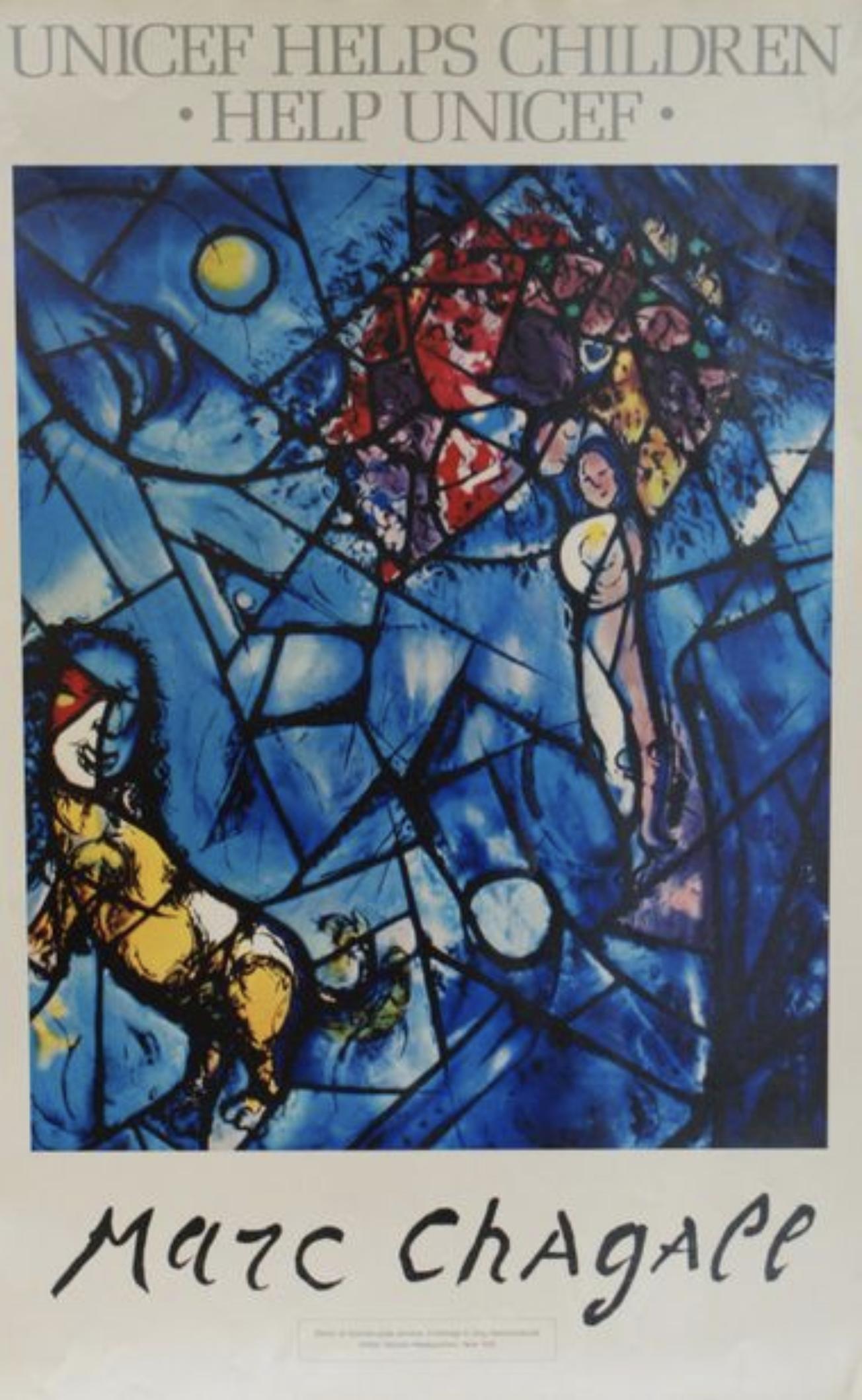 Marc Chagall il poliedro Original Vintage Art Poster