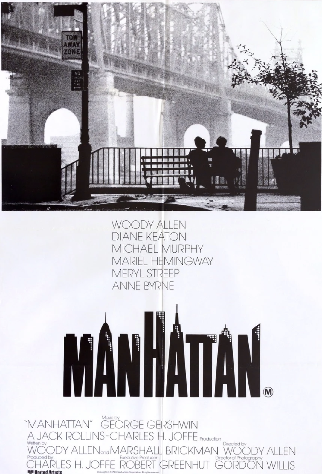 Manhattan 1979 Woody Allen Original Vintage Film Poster