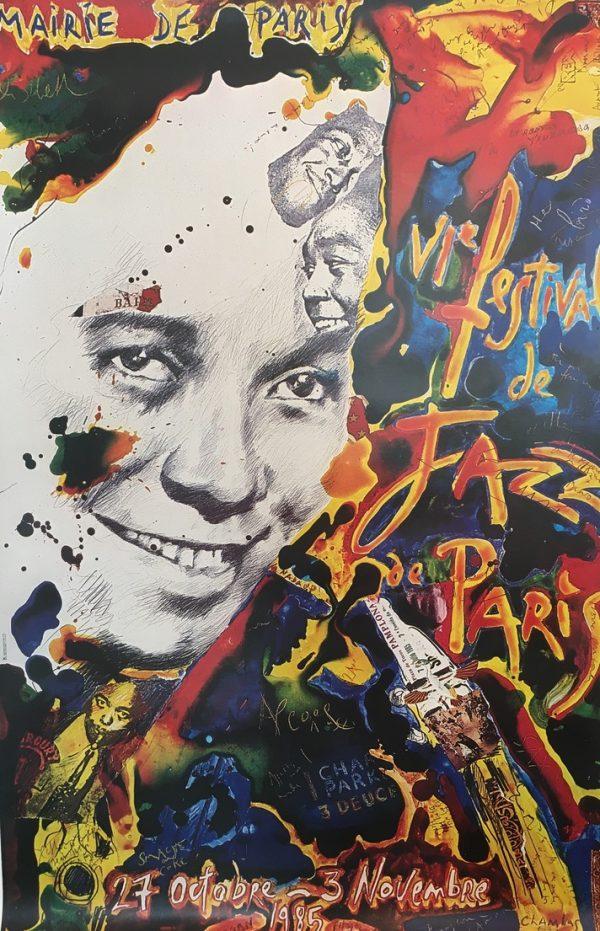 Vi Festival de Jazz Paris Original Vintage Poster