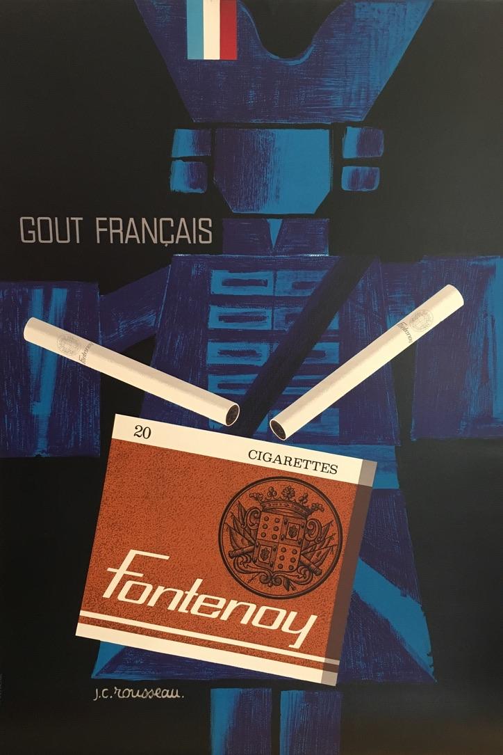 Fontenoy Cigarettes J.C. Rousseau Original Vintage Poster