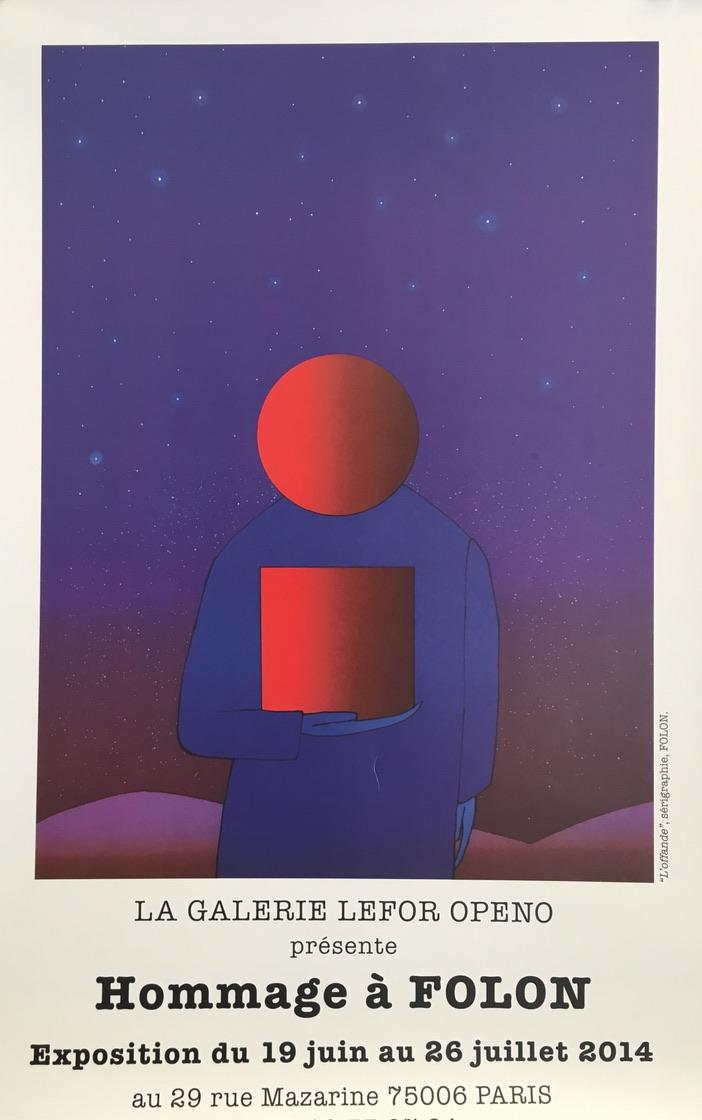 Hommage a Folon Paris Original Vintage Film Poster