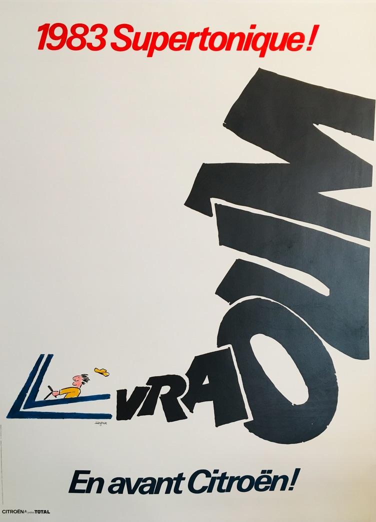 Citroen Supertonique! 1983 Original Vintage Poster