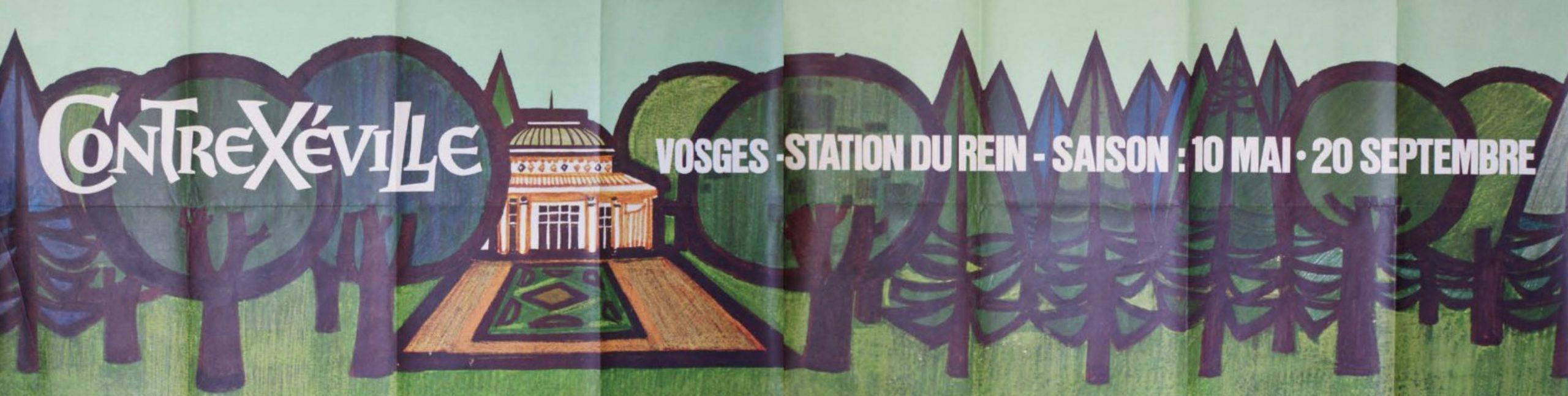 CONTREXÉVILLE 'Vosges Station Du Rein' Original Vintage Poster