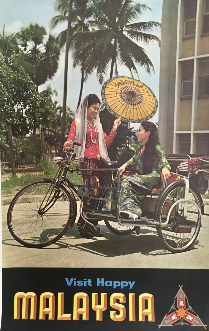 Visit Happy Malaysia Original Vintage Poster