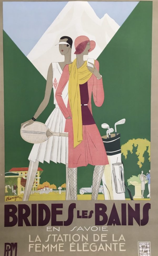 Brides les Bains by Leon Benigni Original Vintage Travel Poster