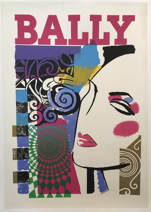 Bally Woman Mid 1970's Original Vintage Poster