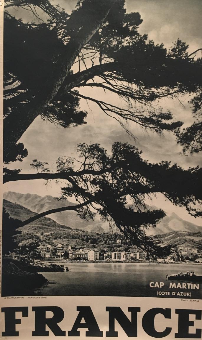 Cap Martin (Cote D'Azur) 'FRANCE' Original Vintage Poster