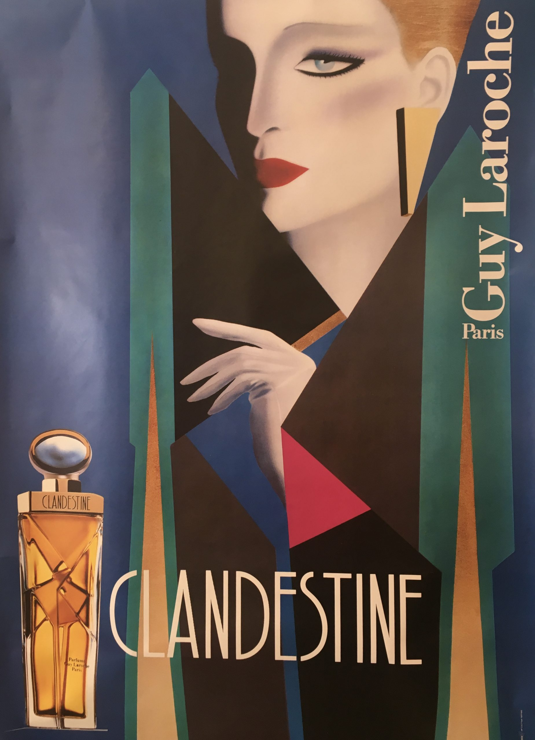 Clandestine - Guy Laroche by Razzia Original Vintage Poster
