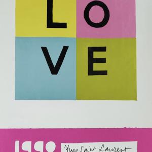1998 Yves Saint Laurent Original Vintage Poster