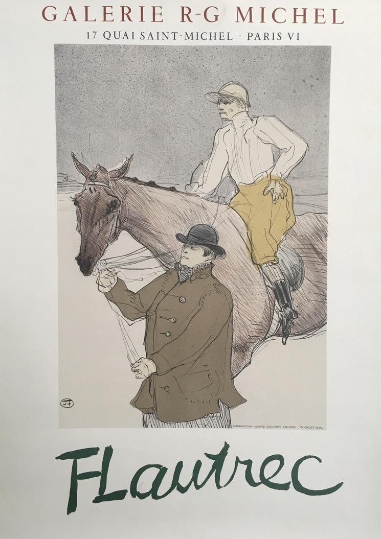 FLautrec Galerie R-G Michel 1954 Original Vintage Poster