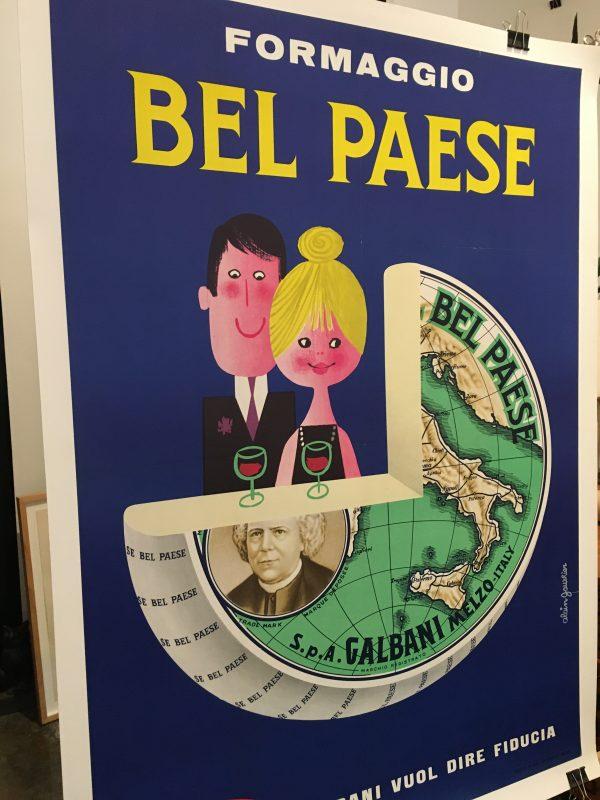 Bel Paese Formaggio Original Vintage Poster