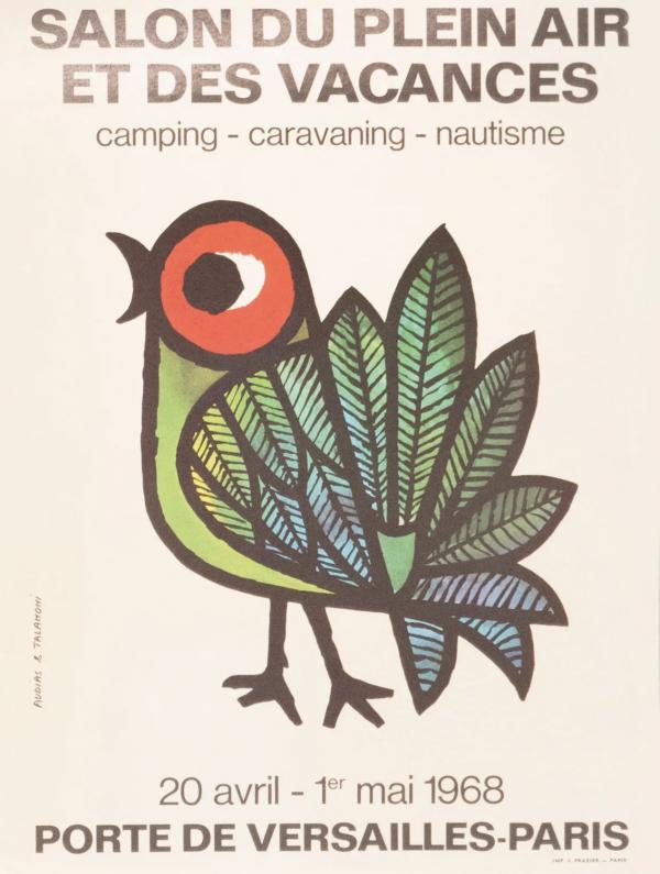 Salon Du Plein Air Bird 1968 Original Vintage Poster