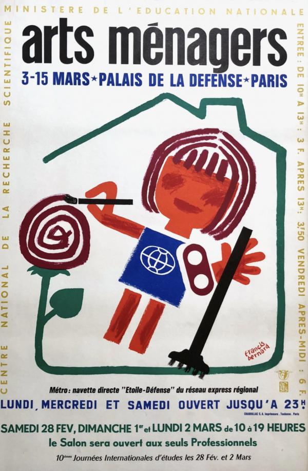 Arts Menagers by Francis Bernard Original Vintage Poster