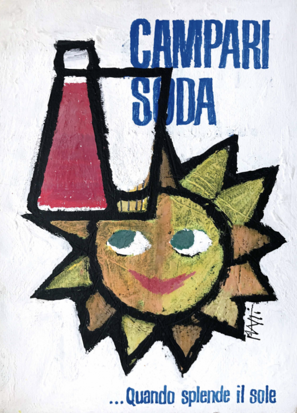 Campari Soda by Piatti Original vintage poster