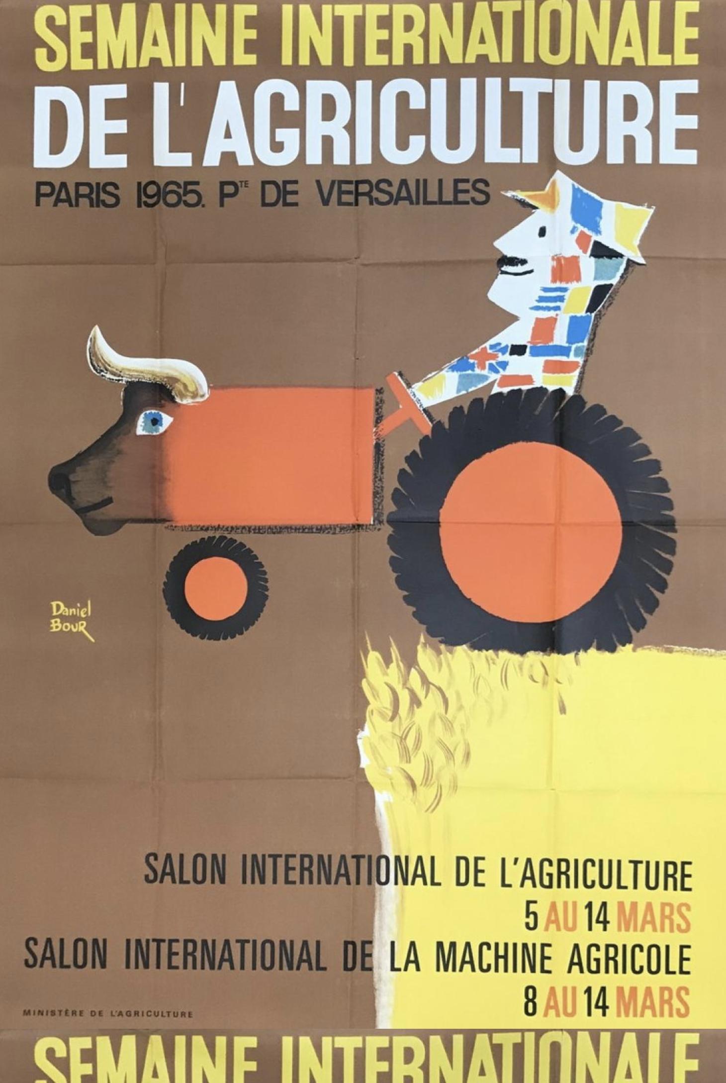 Alain Gauthier 'De L'agriculture' Original Vintage Poster